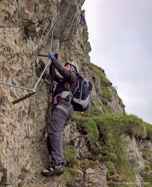 Am Klettersteig Kitzbüheler Horn