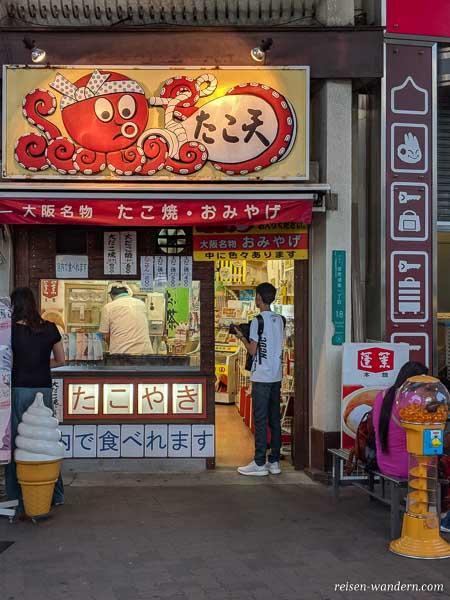 Takoyaki Imbissladen in Osaka