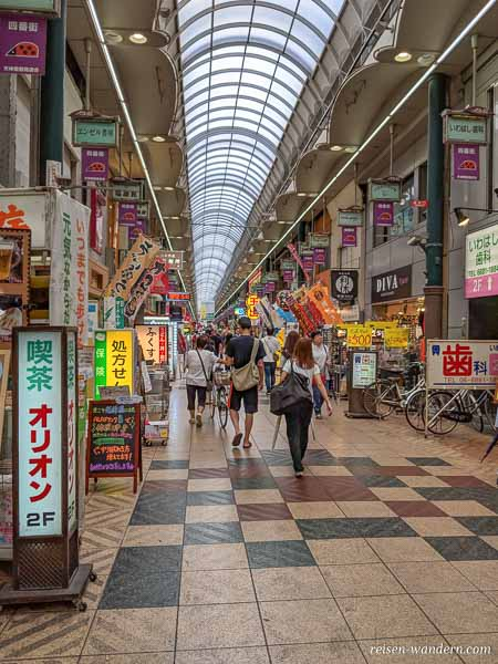Tenjimbashisuji Shopping Street in Osaka