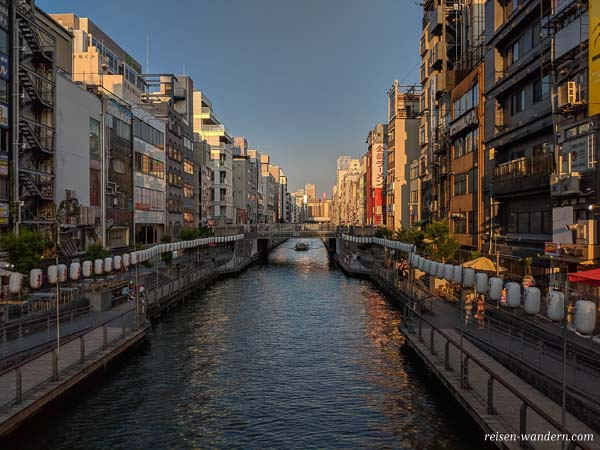 Kanal bei der Dotonbori in Osaka