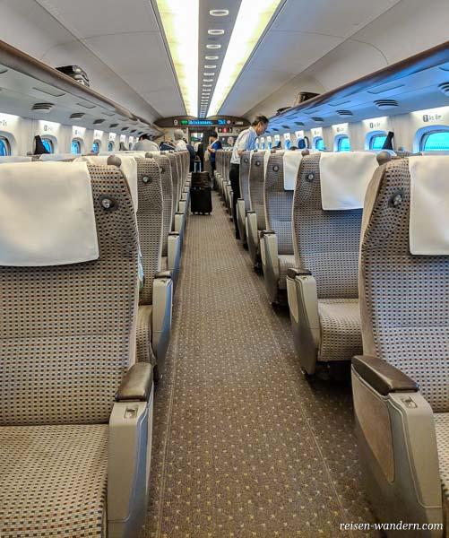 Green Car Klasse im Shinkansen