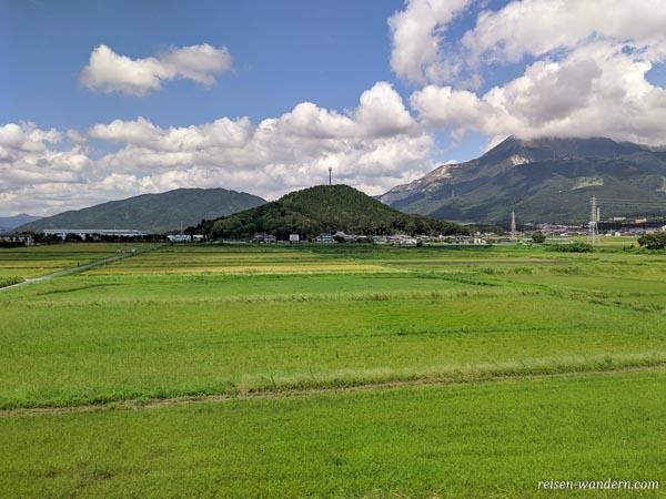 Aufnahme während Fahrt mit Shinkansen