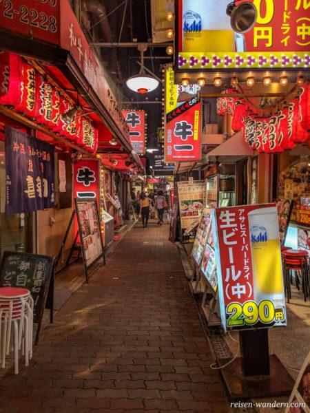 Okonomiyaki Restaurants bei Tsuruhashi Station