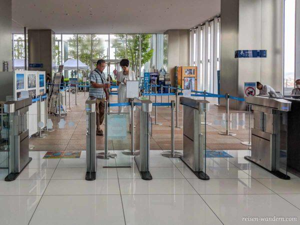 Eingang zur Abeno Harukas 300 Aussichtsplattform