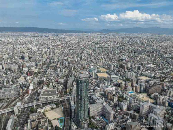 Blick auf Osaka vom Abeno Harukas 300