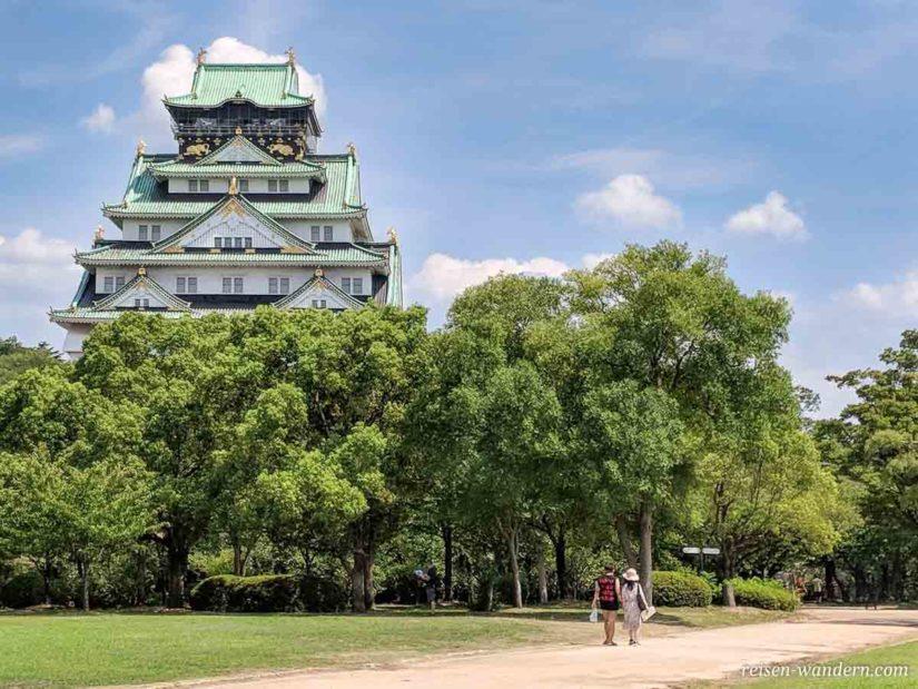 Osaka Castle und Nishinomaru Garten