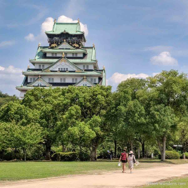 Nishinomaru Garten mit Osaka Castle
