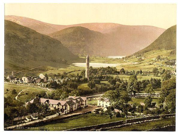 Irland Glendalough Historische Aufnahme