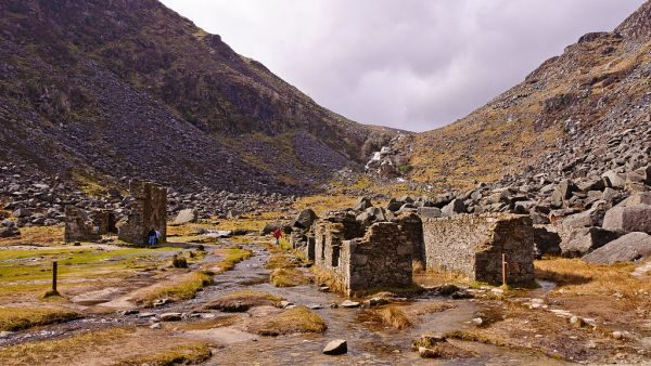 Irland Glendalough Miners Village