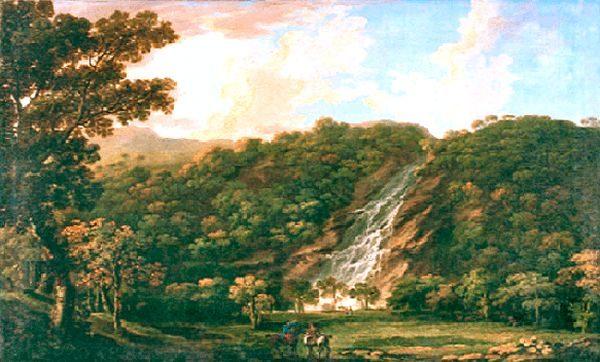 Irland Powerscourt Waterfall Historische Aufnahme