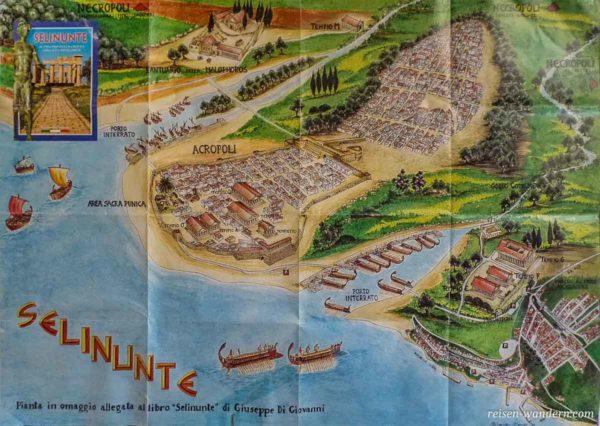 Flyer mit historischen Infos zu Selinunt