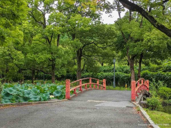 Brücke vor dem Old Fujita House Garden in Osaka