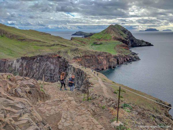 Wanderweg zum Ponta do Furado auf Madeira