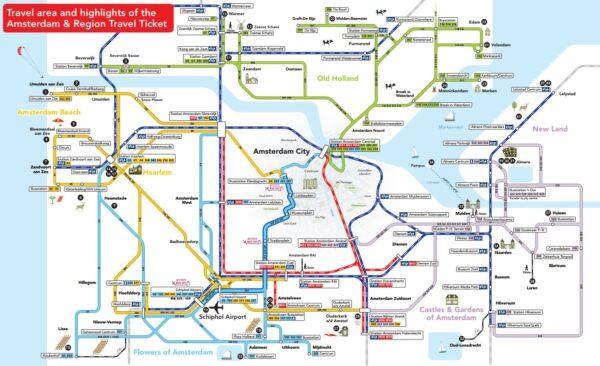 Amsterdam und Region Travel Map