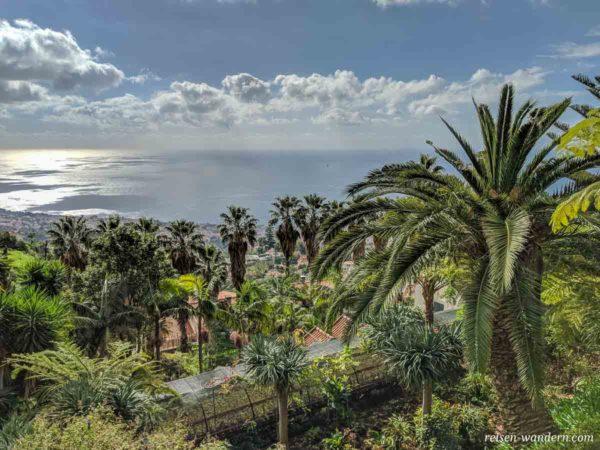 Blick auf das Meer vom Monte Palace Tropical Garden