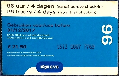 City Card Ticket für Amsterdam