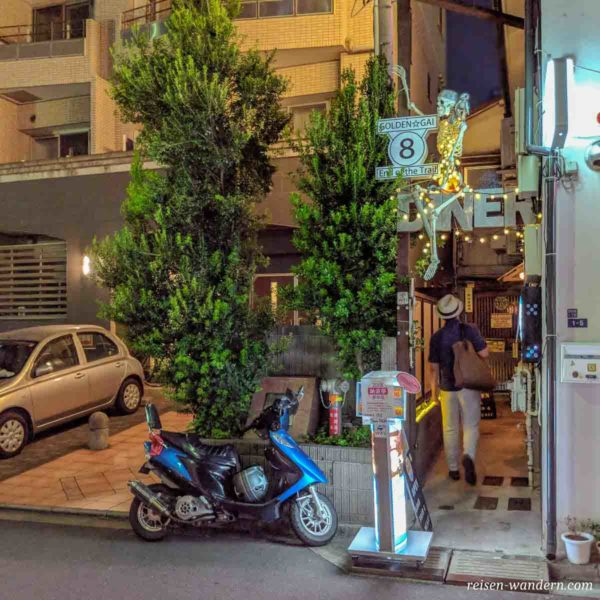 Bar an der Außengrenze des Golden Gai Viertels