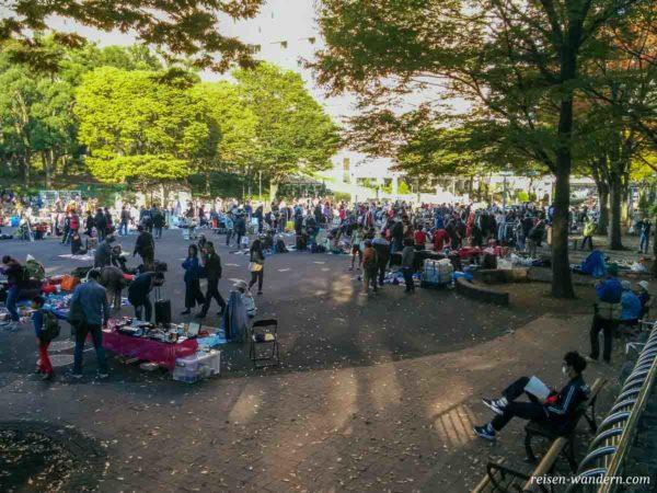 Trödelmarkt im Zentralpark von Shinjuku