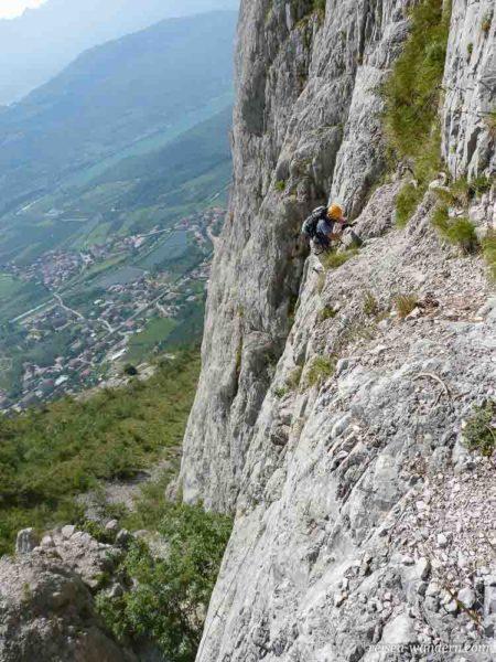 Klettersteig Che Guevara Anstieg