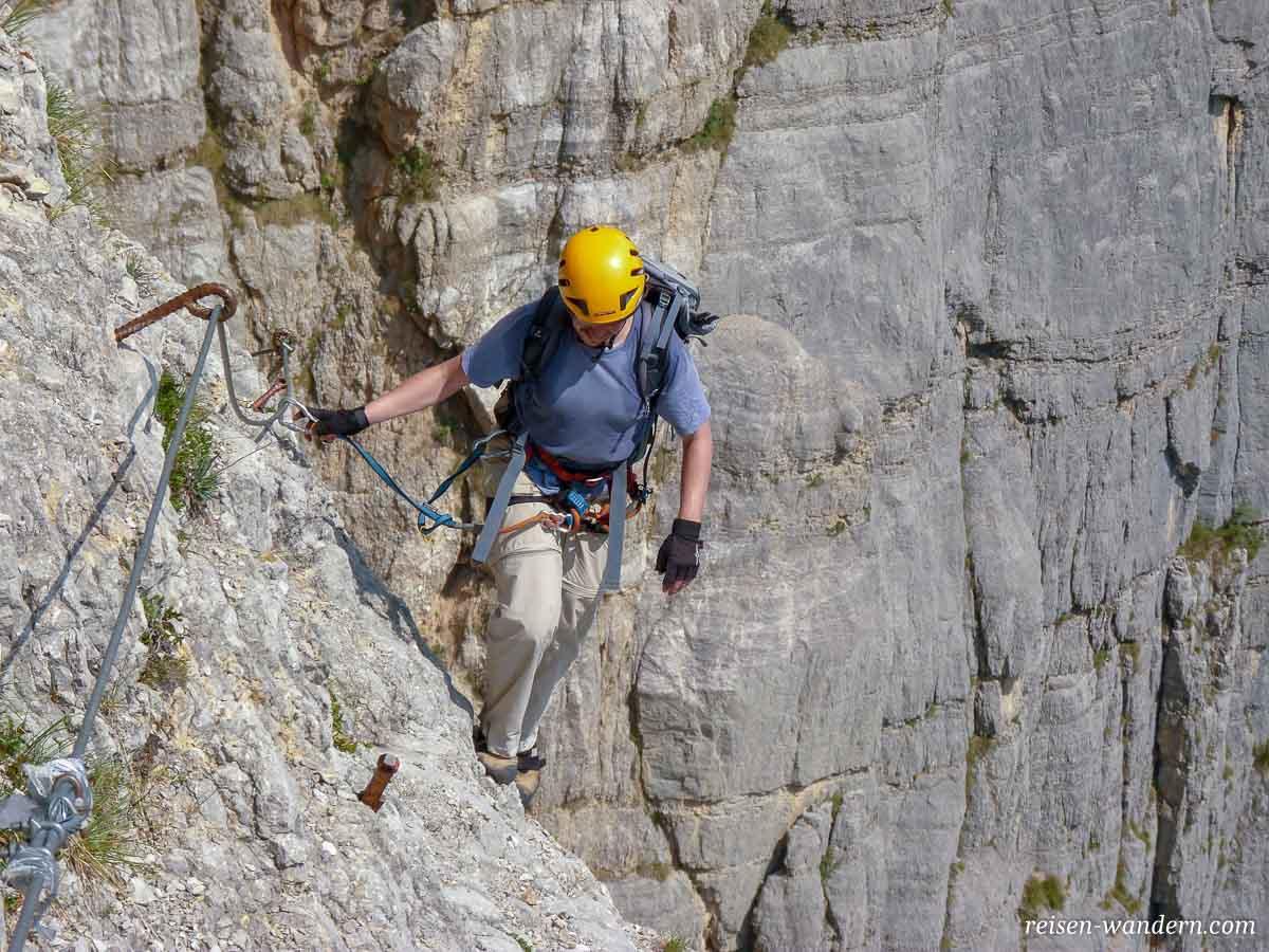 Klettersteig Che Guevara : Die u etiramisu ostwandu c oder warum ich den knüppel klettersteig che