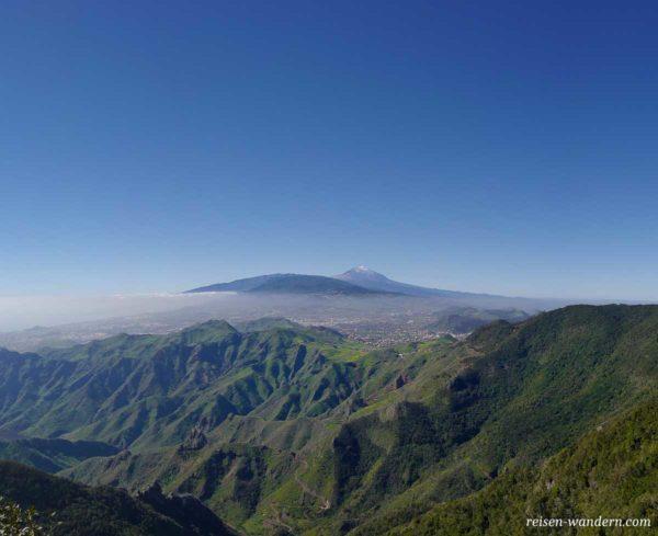 Blick auf den Teide vom Anaga Gebirge