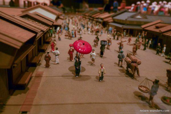 Miniatur vom altem Nihombashi im Edo-Tokyo Museum