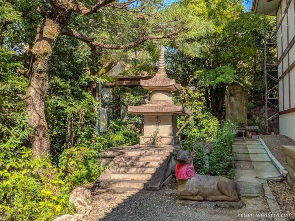 Heiliges Reh im Shōren-in Monzeki Tempel