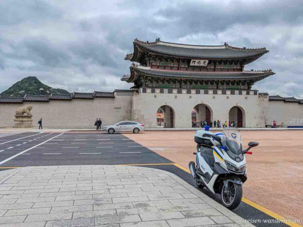 Gwanghwamun Gate des Gyeongbok Palast in Seoul