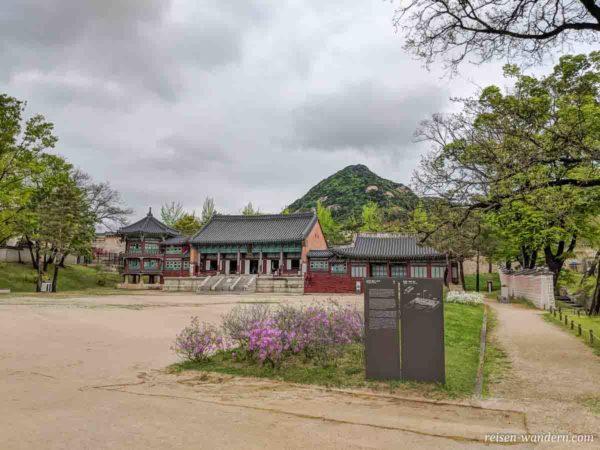 Königliche Bibliothek -Jibokjae Hall - im Gyeongbokgung