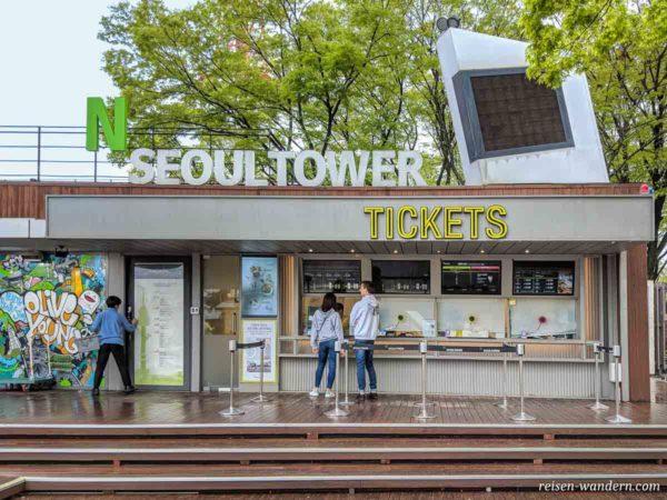 Ticketschalter des N-Seoul Tower