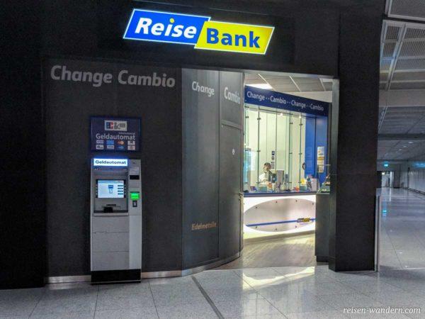 Reisebank am Flughafen Frankfurt