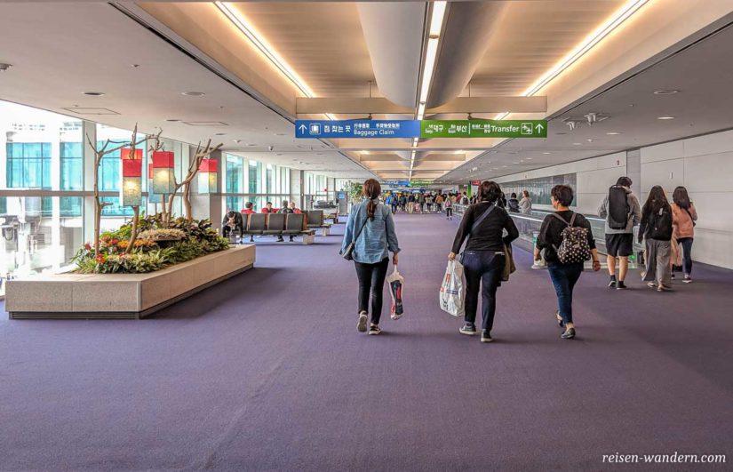 Flughafen Südkorea Ankunftsbereich