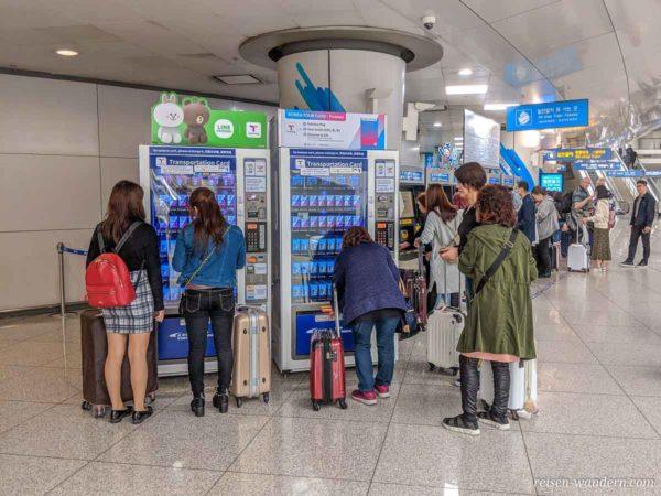 Automaten für Touristen Transportation Card für Südkorea am F