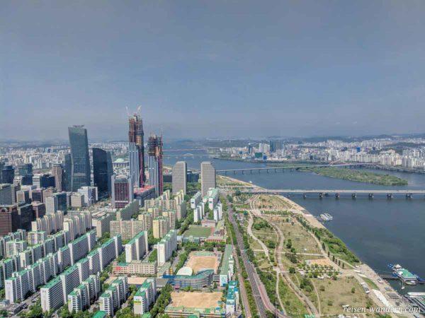 Aussicht auf Seoul vom Wolkenkratzer 63 Building