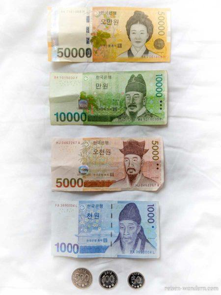 Koreanisches Geld - WON