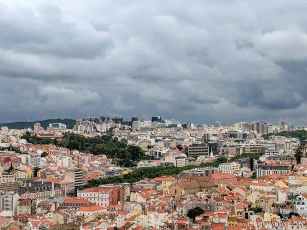 Blick auf den Norden von Lissabon