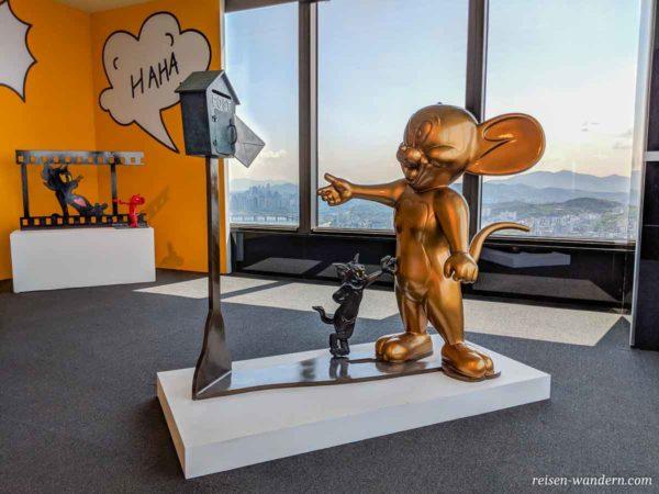 Tom und Jerry Statue im 63 Art in 63 Square