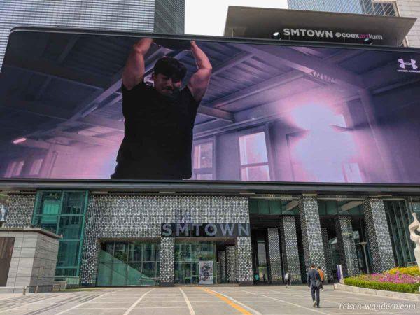 Riesen-Bildschirm bei der Coex Mall