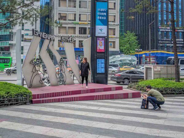 Gangnam Style Plattform bei der Gangnam Station