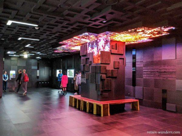 Digitaler Kunst im Seoul Sky im Wartebereich