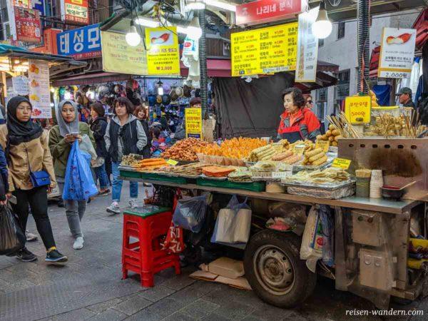 Streetfood-Stand auf dem Namdaemun Market