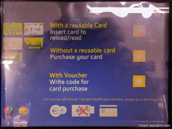 Auswahl am Fahrkartenautomat