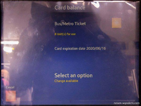 Fahrkarten aufladen am Fahrkartenautomat