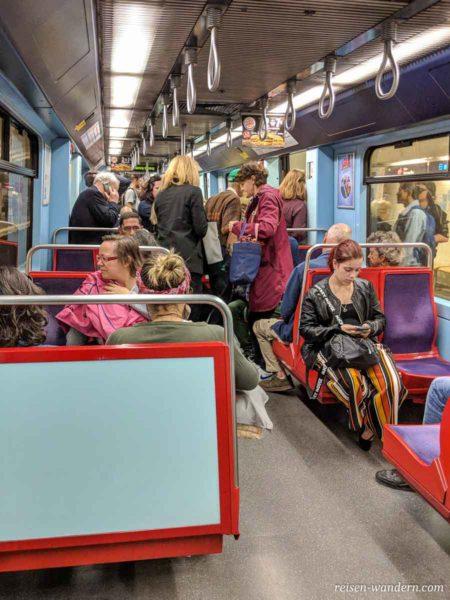 Innenaufnahme Metro von Lissabon