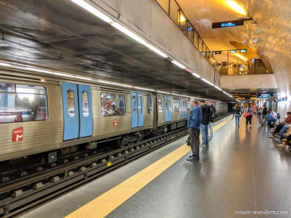 U-Bahn Station Baixa-Chiado in Lissabon