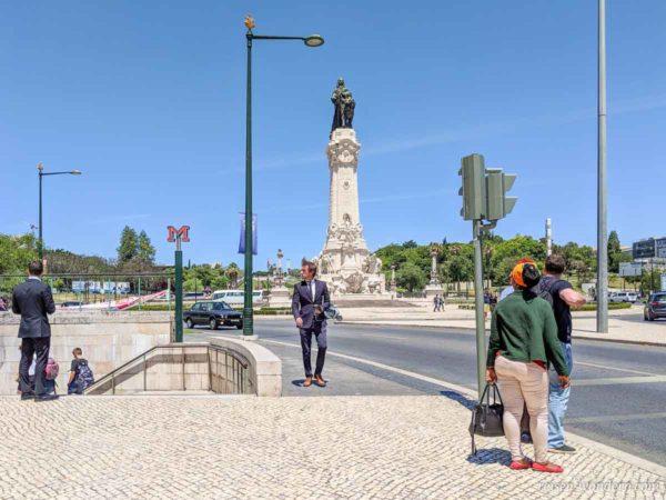 Säule auf dem Estátua do Marquês de Pombal