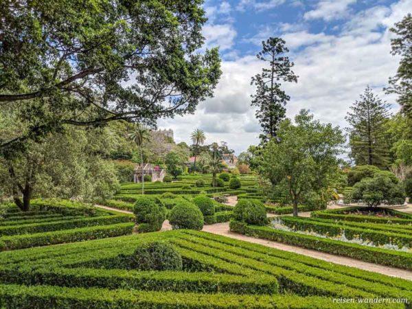 Blick in den botanischen Garten von Lissabon
