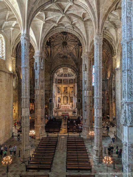 Blick in die Kirche des Mosteiro dos Jerónimos