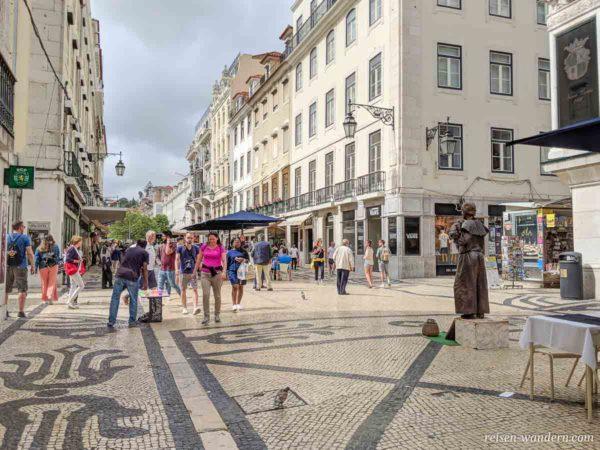 Fußgängerpassage Rua Augusta in Lissabon