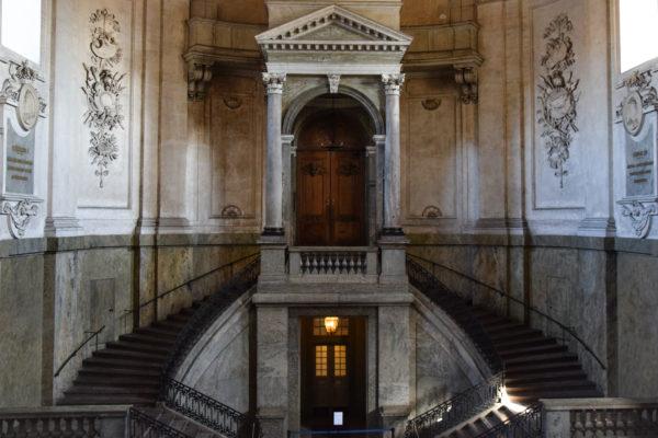 Eine Treppe im Stockholmer Königspalast